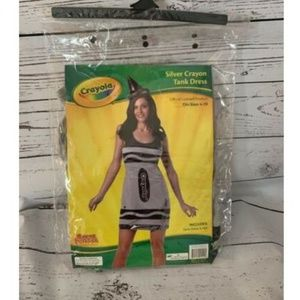 New Halloween Costume Silver Crayon Adult 4-10